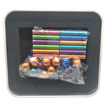 Colorful magnetic sticks and balls