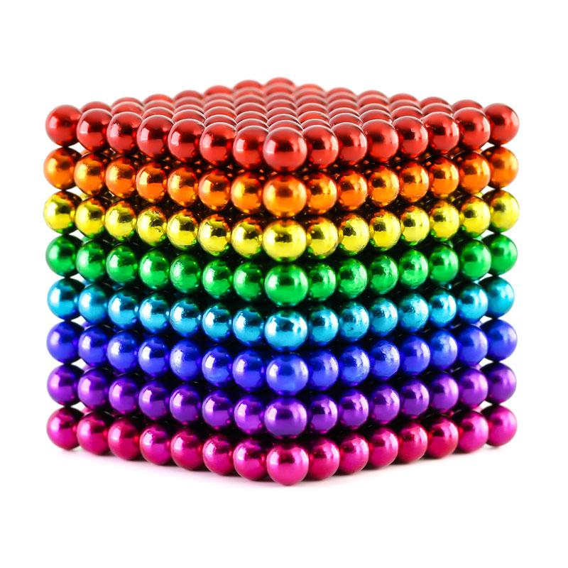 Cheap price eight color 5MM 512 Pcs neodymium magnetic balls cube balls